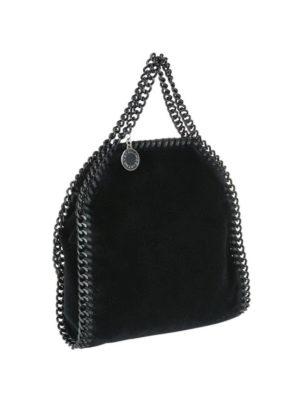 STELLA McCARTNEY: borse a tracolla online - Borsetta Falabella Tiny in velluto nero