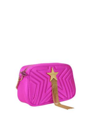 STELLA McCARTNEY: borse a tracolla online - Borsa Mini Stella Star fucsia