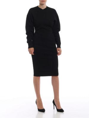 STELLA McCARTNEY: abiti al ginocchio online - Tubino in viscosa con maniche a palloncino
