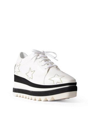 STELLA McCARTNEY: scarpe stringate online - Stringate Elyse bianche e nere