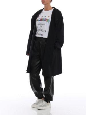 STELLA McCARTNEY: pantaloni in pelle online - Pantaloni in finta pelle con zip laterali