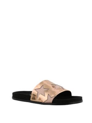 STELLA McCARTNEY: sandali online - Sandali a fascia metallizzati con stelle