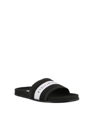 STELLA McCARTNEY: sandali online - Sandali a fascia con banda logo a righe