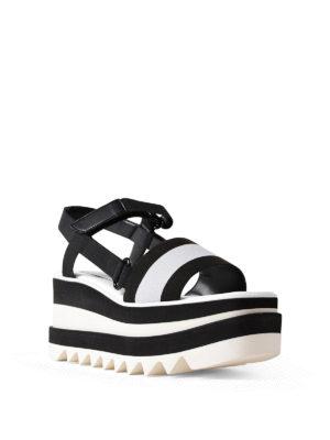 STELLA McCARTNEY: sandali online - Sandali a fascia con zeppa