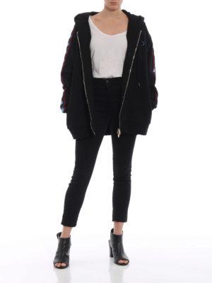 STELLA McCARTNEY: Felpe e maglie online - Felpa oversize  con zip e ricamo All Is Love