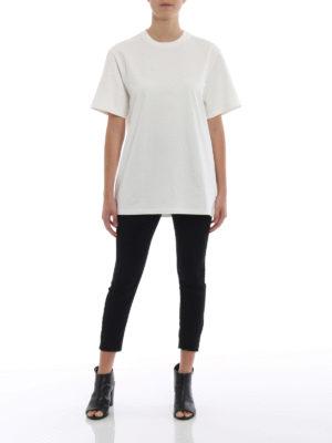 STELLA McCARTNEY: t-shirt online - T-shirt bianca in cotone stretch