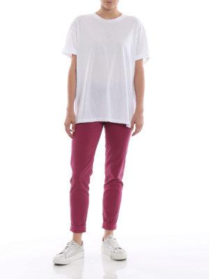 STELLA McCARTNEY: t-shirt online - T-shirt in cotone bianco con perline Ministar