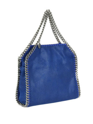 STELLA McCARTNEY: shopper online - Falabella Mini in shaggy deer blu elettrico