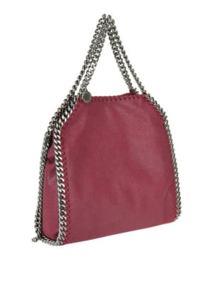 STELLA McCARTNEY: shopper online - Falabella Mini rossa in shaggy deer