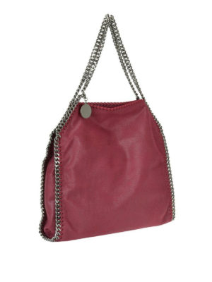 STELLA McCARTNEY: shopper online - Tote Falabella piccola rossa in shaggy deer