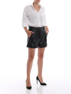 STELLA McCARTNEY: pantaloni shorts online - Pantaloncini Danielle in finta pelle