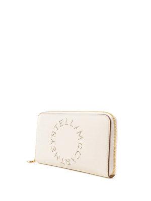 STELLA McCARTNEY: portafogli online - Portafoglio Stella Logo bianco