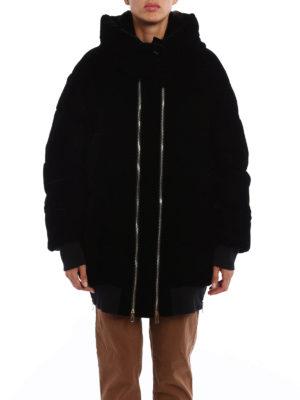 Stella Mccartney: padded jackets online - Velvet hooded padded jacket