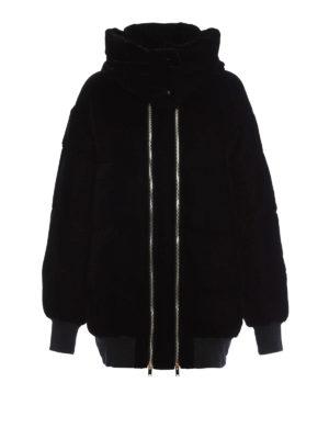 Stella Mccartney: padded jackets - Velvet hooded padded jacket