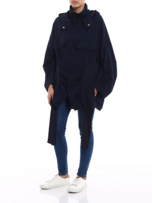 Stella Mccartney: parkas online - Knit panelled oversized parka