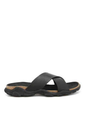 Stella Mccartney: sandals - Crisscross slide sandals