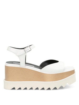 Stella Mccartney: sandals - Felik wood wedge sandals