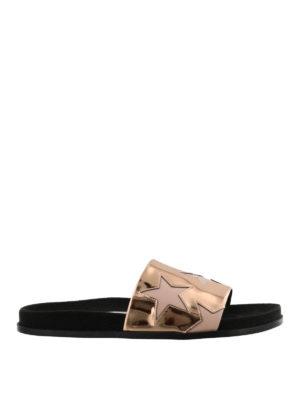 STELLA McCARTNEY: sandali - Sandali a fascia metallizzati con stelle