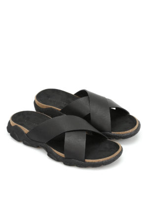Stella Mccartney: sandals online - Crisscross slide sandals