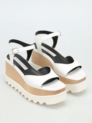 Stella Mccartney: sandals online - Felik wood wedge sandals