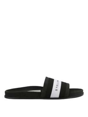 STELLA McCARTNEY: sandali - Sandali a fascia con banda logo a righe