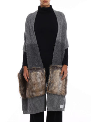 Stella Mccartney: scarves online - Fur Free Fur virgin wool scarf