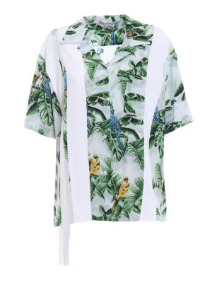 Stella Mccartney: shirts - Birds of Paradise silk over shirt