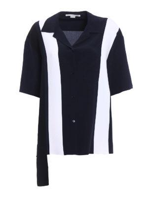 Stella Mccartney: shirts - Colour block silk oversized shirt