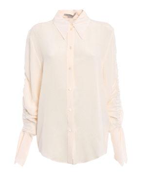 Stella Mccartney: shirts - Draped sleeves silk shirt