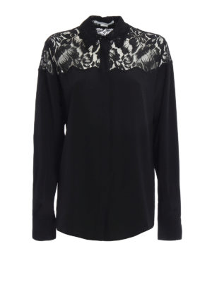 Stella Mccartney: shirts - Frederica lace detail silk shirt