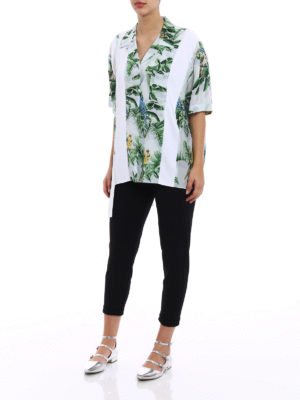 Stella Mccartney: shirts online - Birds of Paradise silk over shirt