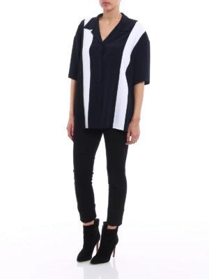 Stella Mccartney: shirts online - Colour block silk oversized shirt