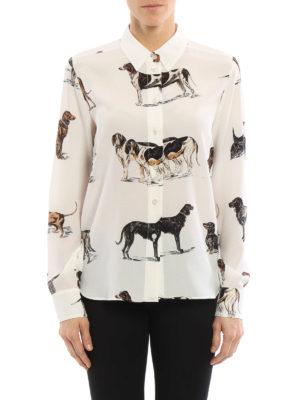 Stella Mccartney: shirts online - Dog print silk shirt