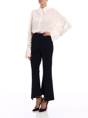 Stella Mccartney: shirts online - Draped sleeves silk shirt
