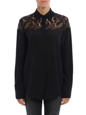 Stella Mccartney: shirts online - Frederica lace detail silk shirt