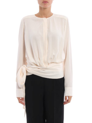 Stella Mccartney: shirts online - Freya silk shirt with ribbons