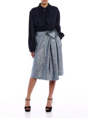 Stella Mccartney: shirts online - Yael dark blue striped silk shirt