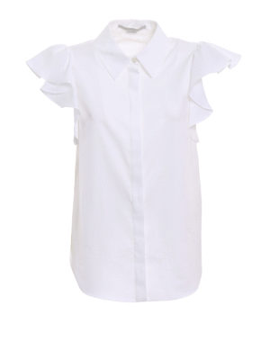 Stella Mccartney: shirts - Short sleeve cotton shirt