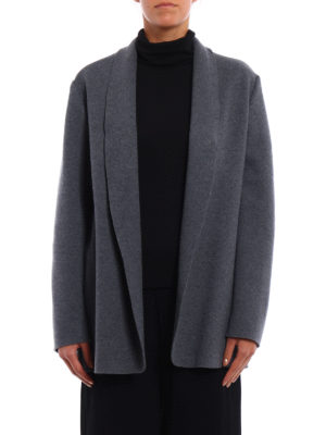 Stella Mccartney: short coats online - Wool short coat with raw edges