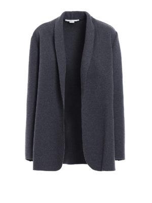 Stella Mccartney: short coats - Wool short coat with raw edges