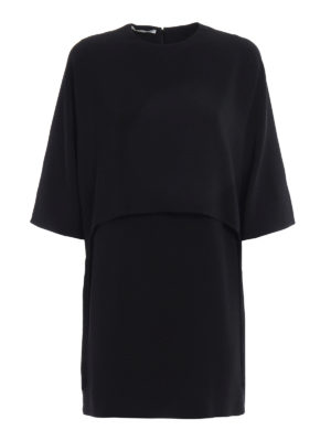Stella Mccartney: short dresses - Georgia fringed cape cady dress