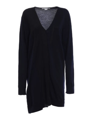 Stella Mccartney: short dresses - Knitted wool dress with silk insert
