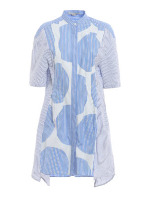 Stella Mccartney: short dresses - Leanna striped shirt dress