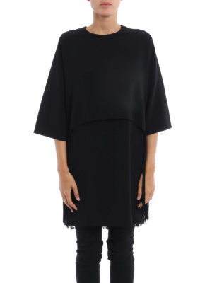 Stella Mccartney: short dresses online - Georgia fringed cape cady dress