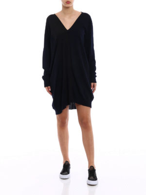 Stella Mccartney: short dresses online - Knitted wool dress with silk insert