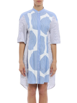 Stella Mccartney: short dresses online - Leanna striped shirt dress