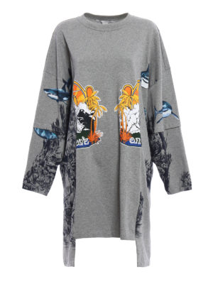 Stella Mccartney: short dresses - Sweatshirt style mini dress