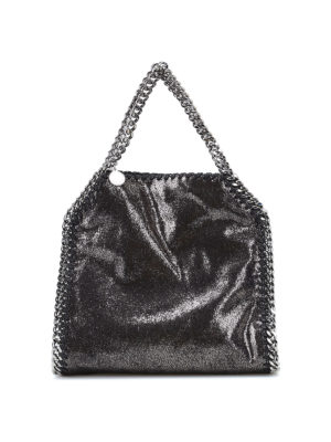 Stella Mccartney: shoulder bags - Falabella shiny mini tote