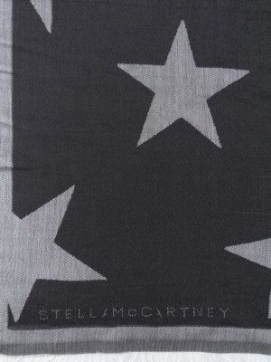 Stella Mccartney: Stoles & Shawls online - Jacquard silk blend stole
