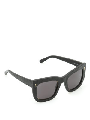 Stella Mccartney: sunglasses - Croco texture sunglasses
